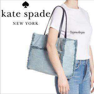 Kate Spade SAM DENIM LARGE POCKET TOTE